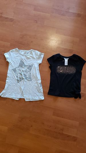 Girls T- Shirt size 5 DKNY / BEBE. 2 X $10.00 for Sale in Pompano Beach, FL