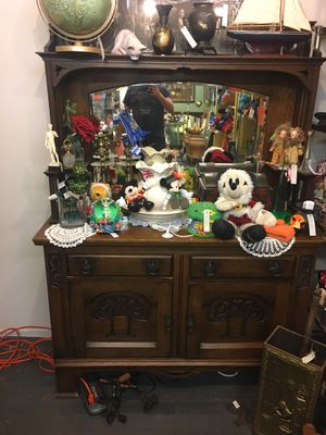1910 Antique dresser bureau or chiffonier can be used for dishes like a china cabinet or a dresser for clothes etc. for Sale in Santa Ana, CA