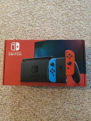 Brand New Nintendo Switch v2 console ... with red and blue controllers. Never opened for Sale in Virginia Beach, VA