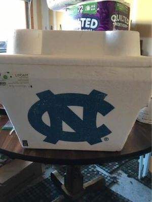 UNC Foam Cooler for Sale in Raleigh, NC