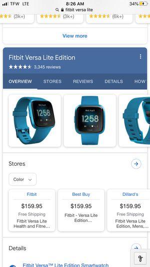 Fitbit Versa Lite for Sale in Carlsbad, CA