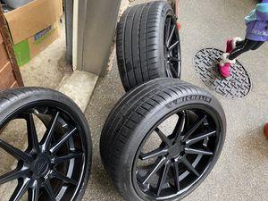 20 inch Ferrada Wheels and Michelin tires for Sale in Edgewood, WA