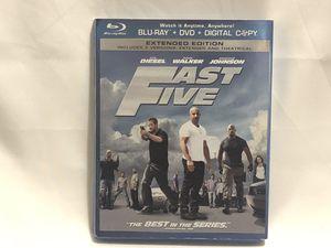 Fast Five blu-Ray, dvd, digital for Sale in Philadelphia, PA