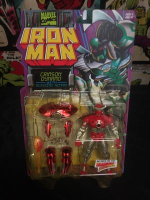 Vintage Crimson Dynamo Marvel Action Hour Toy Biz Iron Man Animated Series Figure for Sale in Oakland, CA