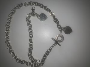 Authentic Tiffany Necklace and Bracelet set for Sale in Stonecrest, GA