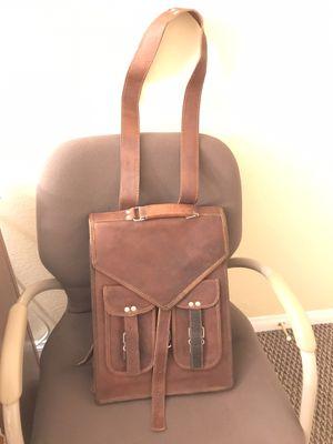 Handmade world brown vintage leather backpack, Laptob messenger bag Rucksack Sling for men and women (11'x15') for Sale in Las Vegas, NV