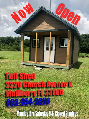 Tuff shed now open. Receive 5% off when you mention offer up. for Sale in Mulberry, FL