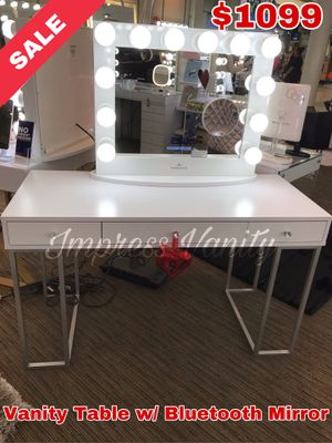 Impressions Vanity Table with Bluetooth Mirror for Sale in Visalia, CA
