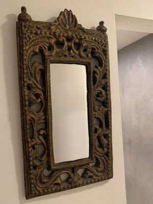 Unique Hand Carved Wooden Mirror Antique for Sale in Orange, CA