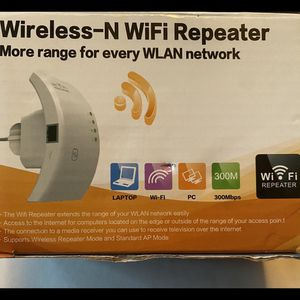 (NEW) WiFi Repeater Range Extender 2.4GHz WiFi Signal Range Booster Wireless Network Extender 300Mbps 2.4GHz 802.11n Amplifier Internet Repeater with for Sale in San Bernardino, CA