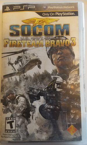 Socom fireteam bravo 3 PSP game for Sale in Tuscola, TX