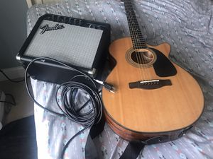 Fender amp and electric guitar acústica for Sale in Clayton, NC