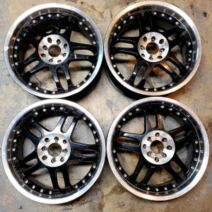 17 EMR 5 Spoke Split Black Wheels 4 lug Universal for Sale in Chino, CA