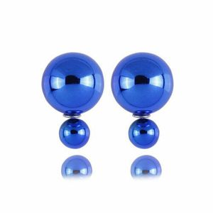 Double Ball Earrings - Smooth/Blue for Sale in Wichita, KS