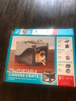 Portable Canvas Crate Kennel for Dogs or Cats for Sale in Torrance, CA