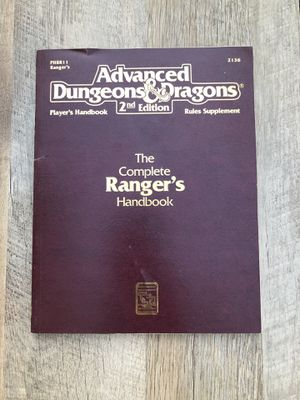 D&D 2nd edition The complete Ranger's Handbook for Sale in Las Vegas, NV
