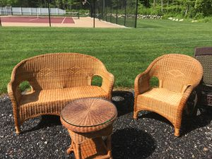 Wicker Chair and Table Set for Sale in Bridgewater, MA