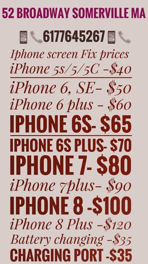 iPhone screen r e p air for Sale in Medford, MA