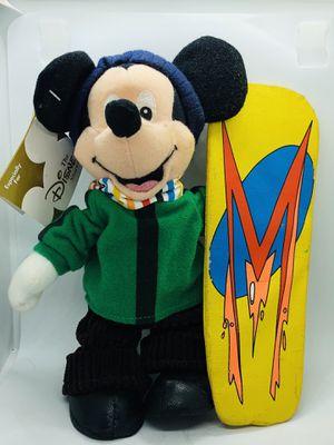 "The Disney Store Snowboard Mickey Mouse Winter Mini Bean Bag 8"" Plush Stuffed for Sale in COCKYSVIL, MD"