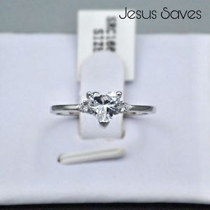 S925 Clear Heart CZ Ring SRC-16679 Size 6/7/9 for Sale in Fresno, CA