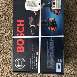 Bosch 2-Tool Core18v Brushless Power Tool Combo Kit with Soft Case (Charger Included and 2-batteries for Sale in Oklahoma City, OK
