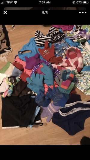 Girl clothes, shoes, mittens, scarves, swimming suits.. for Sale in Puyallup, WA