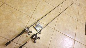 Abu Garcia promaxx 3 &, silver max combo set & new spider wire for Sale in Greensboro, NC