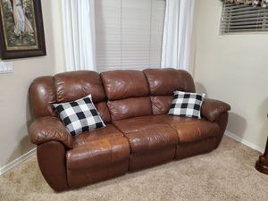 Leather Sofa and loveseat recliners for Sale in Queen Creek, AZ