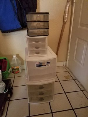 Assorted plastic drawers for Sale in Las Vegas, NV