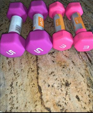 Lot Of 4 CAP Hex Neoprene 5 lb and 3 lb Pound Dumbbell Weights for Sale in Enterprise, AL