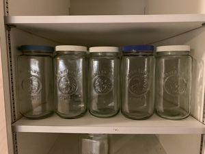 Vintage Golden Harvest Canister - 64oz. Mason Jars w/ lids for Sale in Tarpon Springs, FL
