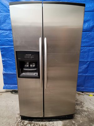 Kitchen aid stainless steel fridge good working conditions for $249 for Sale in Arvada, CO