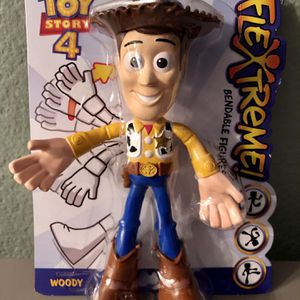 Disney Pixar Toy Story 4 Woody Flextreme Bendable Figure Tall Toy Figurine for Sale in Corona, CA