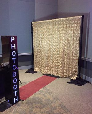 Photo Booth Case, Printer, Pipe & Drape, Props, Carpet, Stools and More for Sale in Manassas, VA