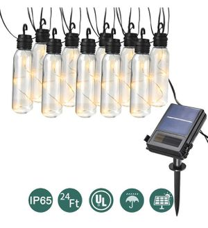 LED Outdoor Solar String Lights, 24 Ft Patio Lights UL listed Backyard Patio Lights Outdoor String Lights for Bistro Pergola Deckyard Tents Market Ca for Sale in Oceanside, CA