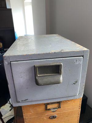 Antique card file cabinet for Sale in Oak Brook, IL