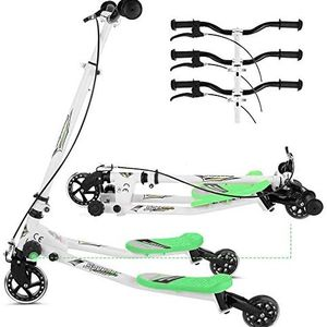 Y Flicker Scooter for Kids Ages 5-8, Fliker Swing Wiggle Scooter 3-Level Adjustable Height Foldable Kick Speeder Drifter for Boys and Girls Gifts for Sale in Sterling Heights, MI