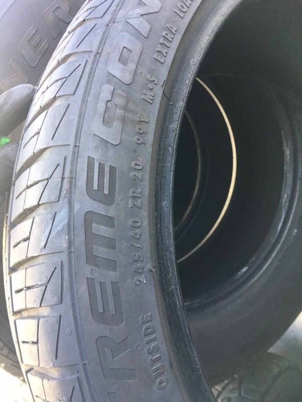 245/40/20 tires PRETTY MUCH BRSND NEW HAVE 90 percent thread