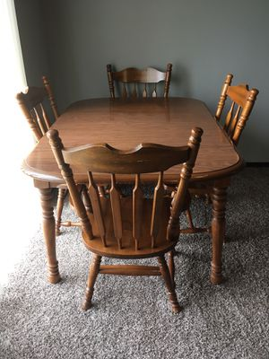 Dining Table & Four Chairs for Sale in Huron, SD