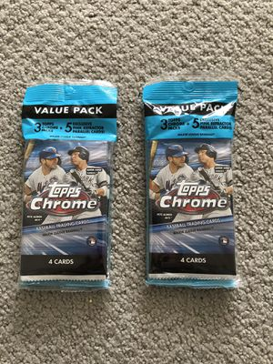 2 2020 Topps Chrome Value Pack Cello for Sale in Herndon, VA