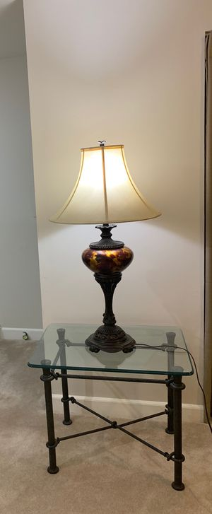 High end 200 tall lamp with silk shade for Sale in Alexandria, VA
