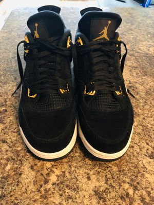 "Air Jordan 4 ""Royalty"" black/gold size 12 for Sale in Rockville, MD"