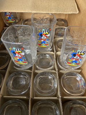 Glass cup 2000 Disney collection from McDonald' $5.00 each for Sale in Kissimmee, FL