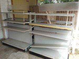 Double sided adjustable metal shelving for Sale in Pensacola, FL