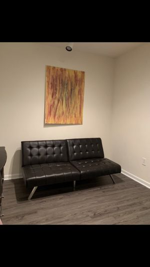 Chocolate leather futon!!! for Sale in East Point, GA