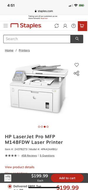 HP laser pro printer for Sale in Arlington, VA
