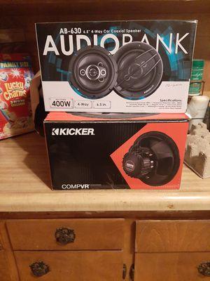 Brand new Audio bahn door speakers and kicker subwoofer for Sale in Mount MADONNA, CA