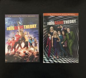 Big Bang Theory DVDs Complete Season 5 & 6 for Sale in Fort Lauderdale, FL