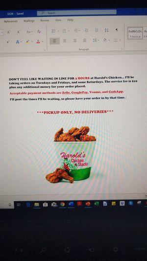 Harold's Chicken 🍗🐔🍗 for Sale in Phoenix, AZ
