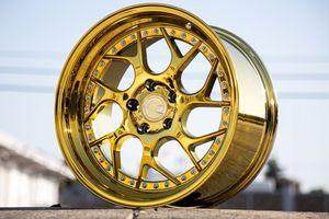"18"" Aodhan DS01 gold chrome 5x114.3 wheels rims fit Honda Acura Infiniti Nissan Toyota lexus Mitsubishi Kia mazda for Sale in Brooklyn, NY"